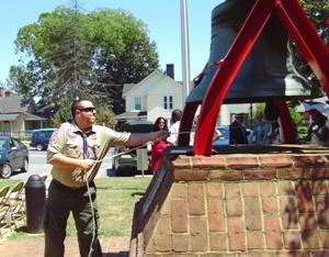 Boy Scouts And Others Celebrate Ringing Of Virginia Liberty Bell
