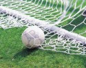 Soccer ball and net (clipart)