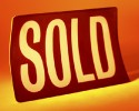 Real estate sold sign (clipart)