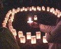 Candlelight Vigil Domestic Violence 100107