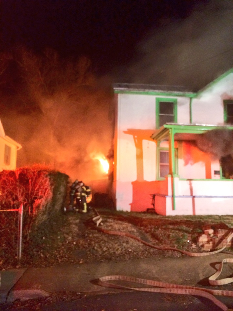 Fire Damages House On 12th St. NW
