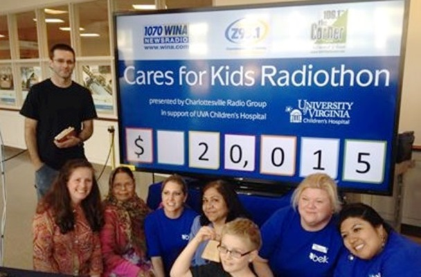 Charlottesville Radio Group Raises Over $20,000 For UVA Children's Hospital