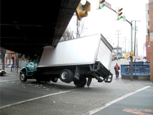 Delay In Work Under Truck-Eating Bridge