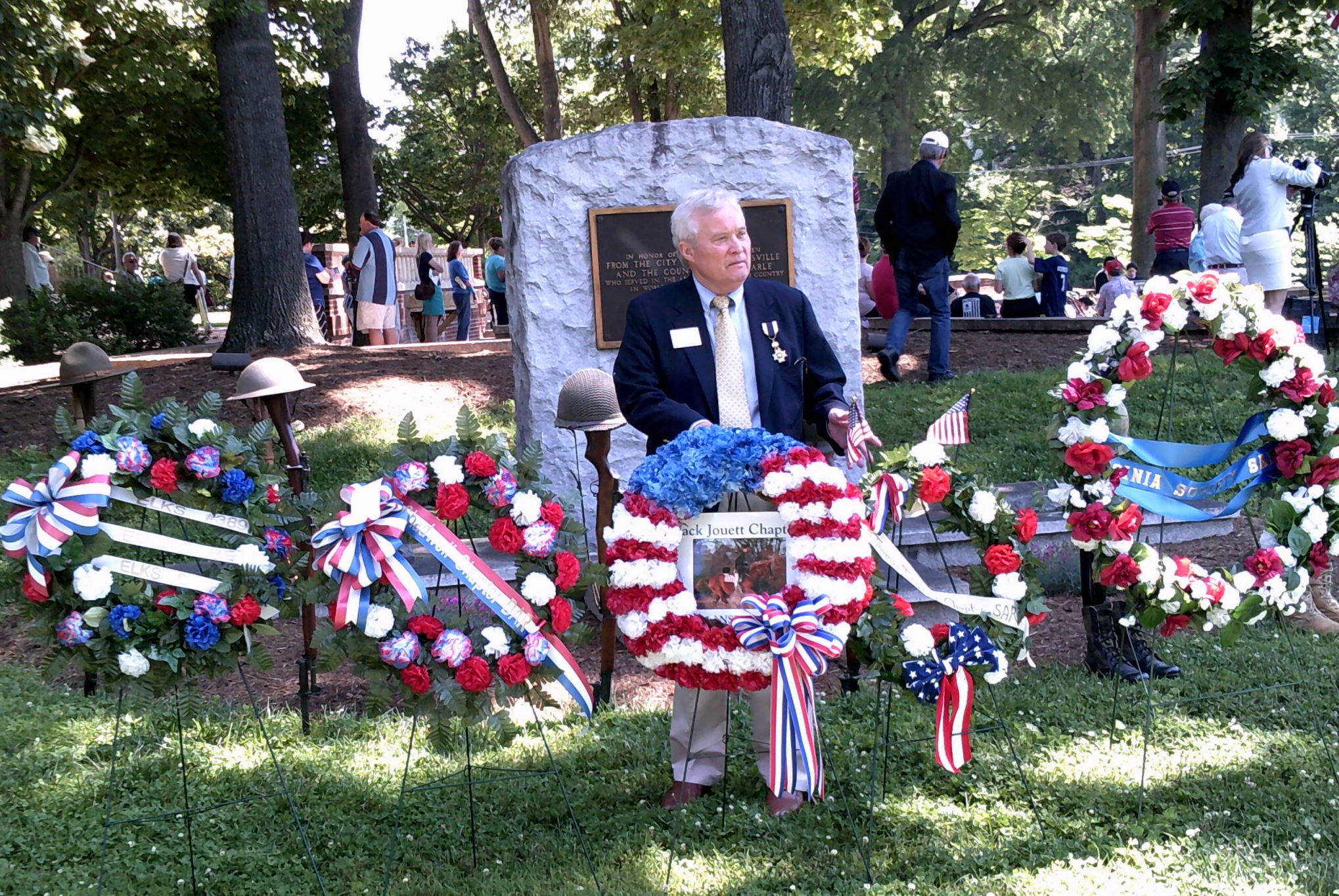 Area Residents Pause To Honor America's War Dead