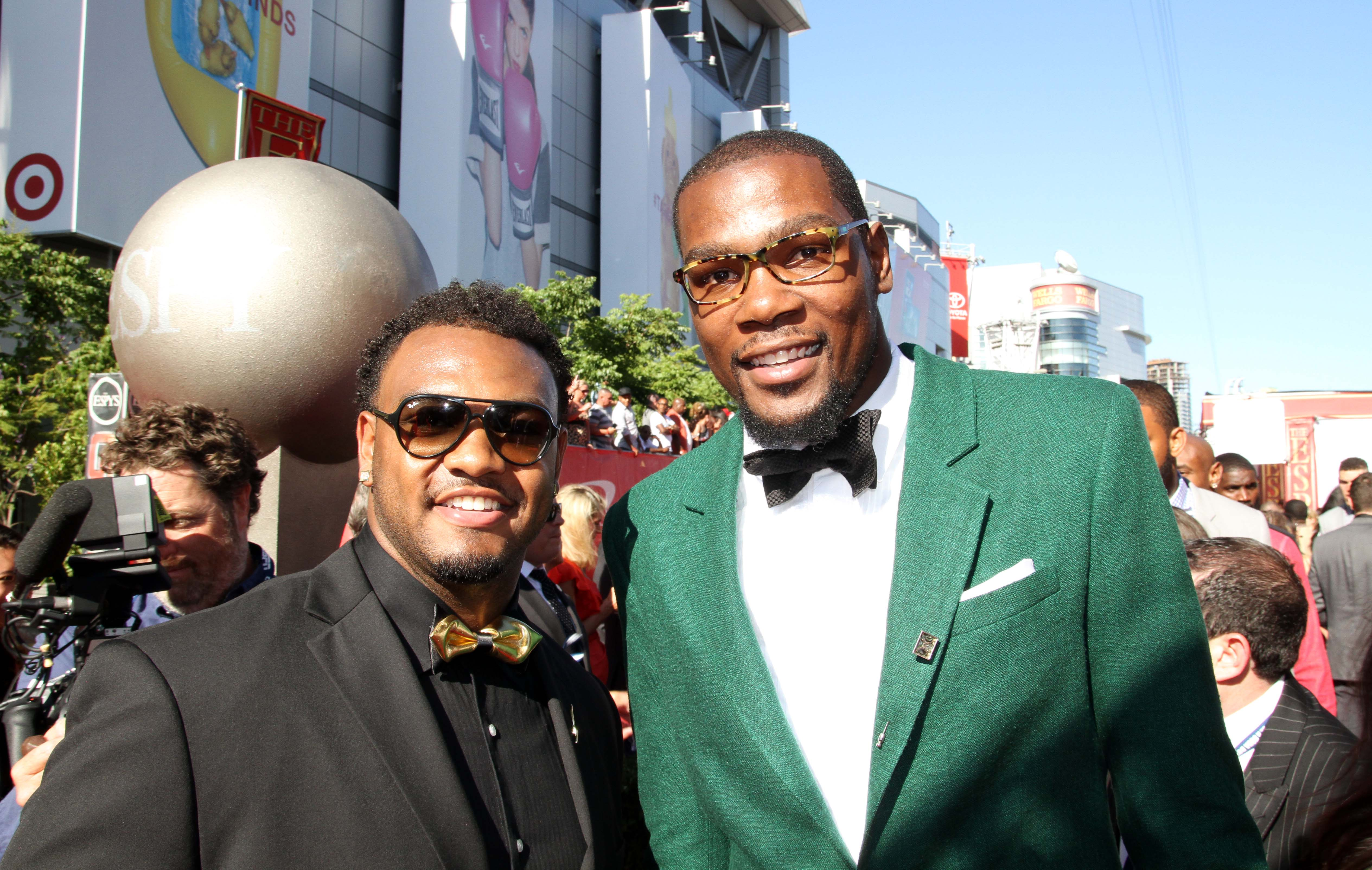Andrew Brown Attends 2014 ESPYS