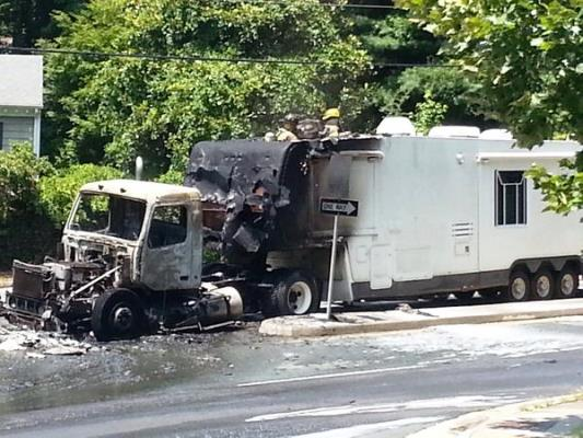 Vehicle Fire Causes Problems On Barracks Road