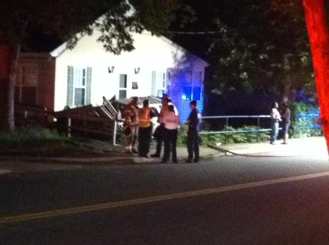 Car Slams Into House Near Intersection Of Monticello Avenue/6th St. S.E.