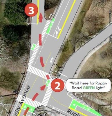 City: University-Rugby Intersection To Be Safer For Cyclists