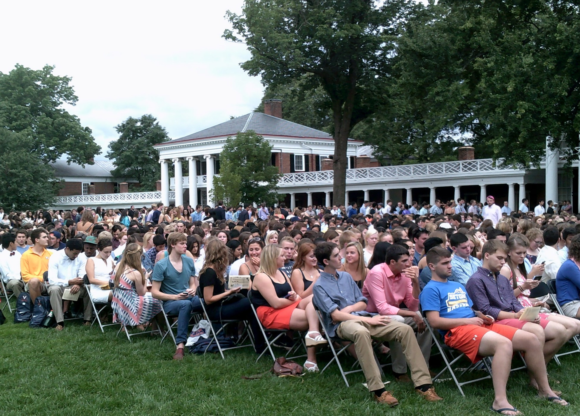 UVA Welcomes Class Of 2018 During Lawn Ceremony