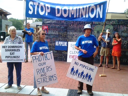 Protesters Rally Against Dominion Pipeline