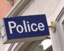 Police sign (clipart)