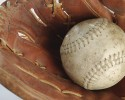 baseball glove and ball clipart