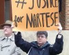 Johnson Martese Sign Justice For Martese 032615 (DZ)