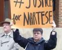 Johnson Martese Sign Justice For Martese 032615 (DZ)