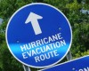 Hurricane Evacuation Route sign (clipart)